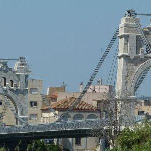 Imatges del riu Ebre i Pont Penjant d'Amposta